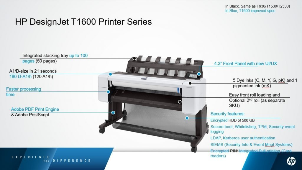 Plotter Hp Designjet T1600