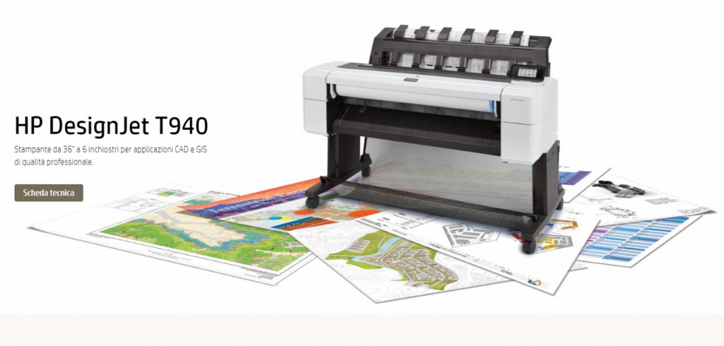 Plotter Hp Designjet T940 in promo con 2 anni di garanzia